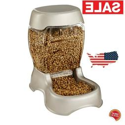 Gravity Pet Feeder Automatic Cat Dog Food Dispenser Storage
