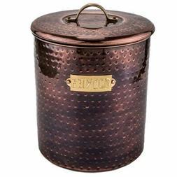 Old Dutch International Hammered Metal Cookie Jar
