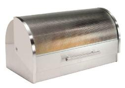 Heavy Duty Roll Top Bread Box Stainless Steel And Handle Wit