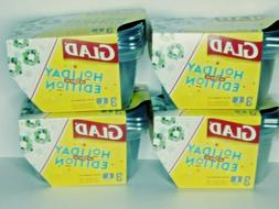 >Glad Holiday Edition LARGE Storage Containers – 4 sets  1