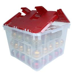 Holiday Wing-Lid Box with Ornament Dividers 60QT WL-60