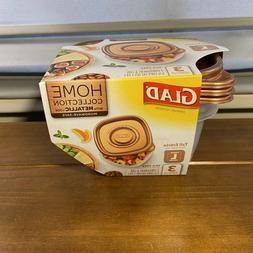 Glad Home Collection with Gold Metallic Look-3/42oz containe