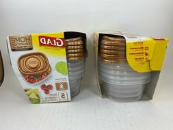 Glad Home Collection with Metallic Gold Look-5/9oz Pack