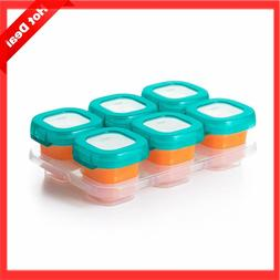 HOT OXO Tot Baby Blocks Food Storage Containers Teal 2 Ounce