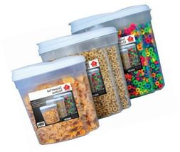 Imperial MW1196 Plastic 3 Piece Cereal Dispenser Set - Dry F