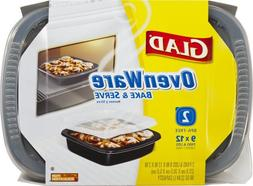 Glad 70108 9-Inch x 12-Inch, 96-Ounce OvenWare Pan with Lid,