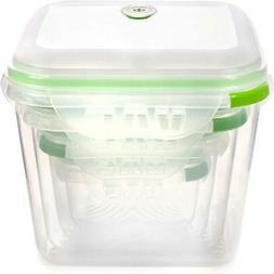Ozeri INSTAVAC Green Earth Food Storage Container Set, BPA-F
