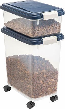 IRIS 3-Piece Airtight Pet Food Container Combo, Pet Dog Cat