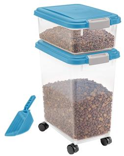 IRIS 3-Piece Airtight Pet Food Container Combo, Pet Dog Cat