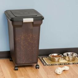 IRIS Premium Airtight Pet Cat Dog Food Storage Containers, 5