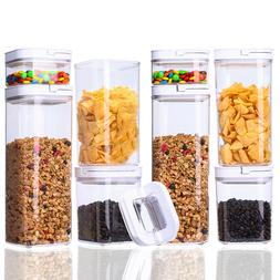 Airtight Food Storage 8 Piece POP Container Set  BPA Free Dr