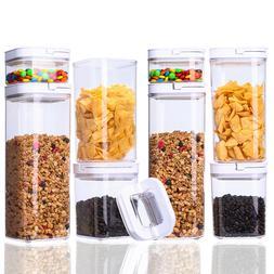 Airtight Food Storage 8 Piece POP Container Set  BPA Free Dr