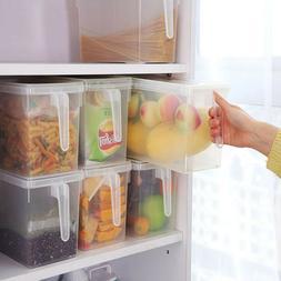 Refrigerator Crisper Cover Box Kitchen Food Storage Containe