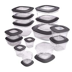 Kitchen Food Storage Container Set Plastic Lids 28 Piece Bow