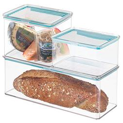 mDesign Airtight Stackable Kitchen Pantry Cabinet or Refrige