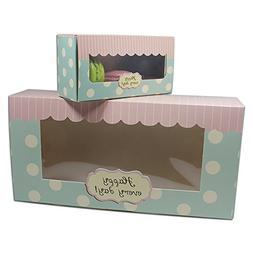 Kraft Paperboard Cookie Food storage Box with Window Bakery