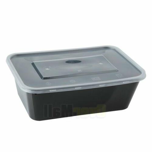 100 Meal Plastic Food Storage Reusable Microwavable 1