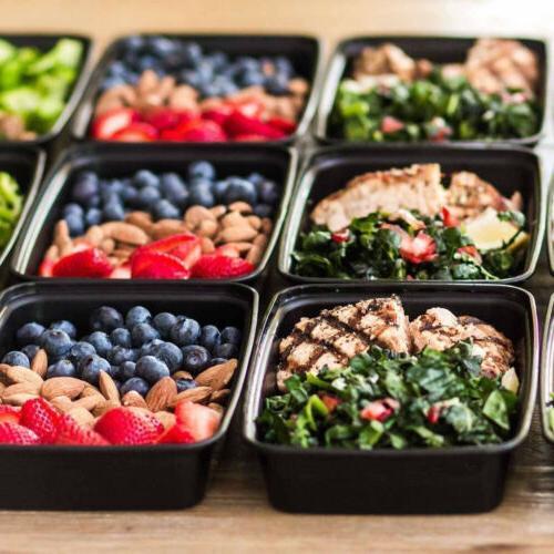 100 Prep Plastic Food Storage Reusable Microwavable