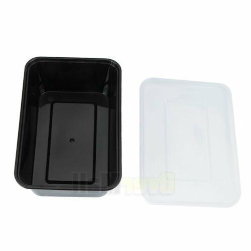 100 Meal Prep Plastic Food Microwavable 1