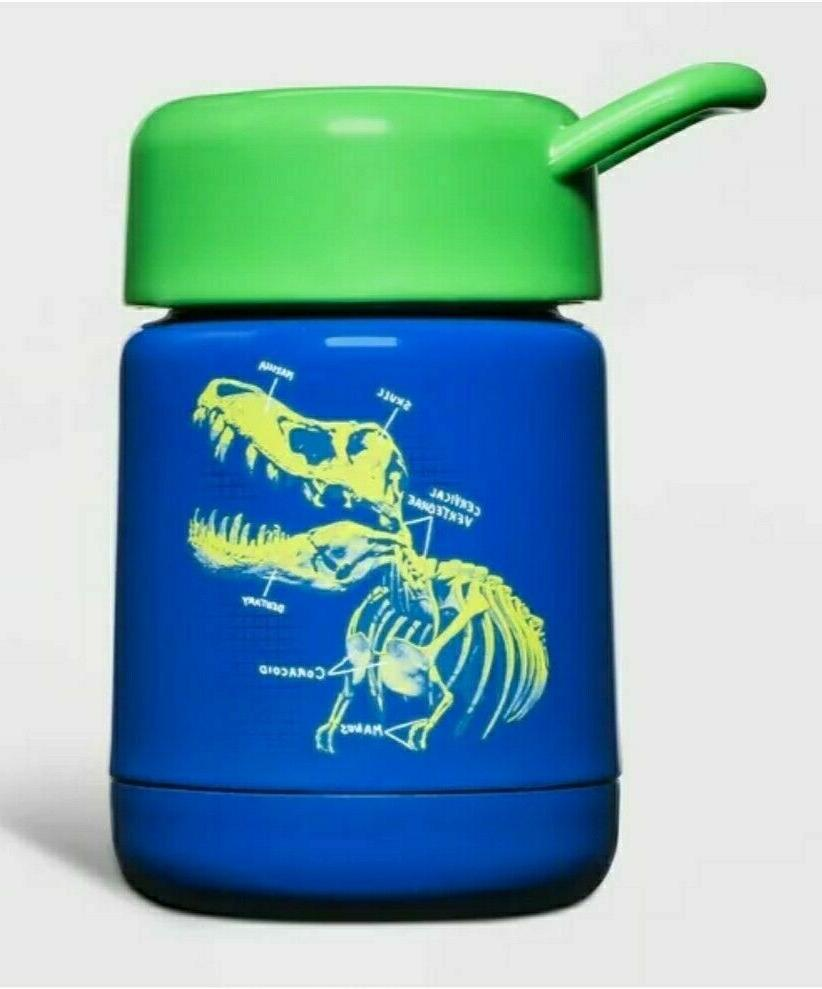 10oz stainless steel food storage container dino