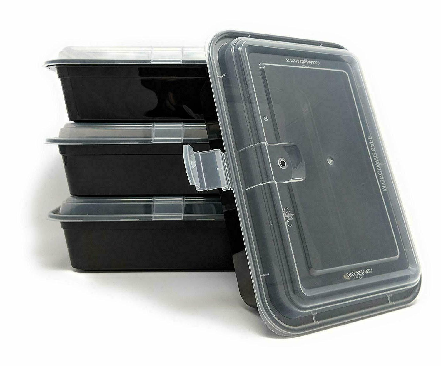 50 Pack Meal Containers Compartment