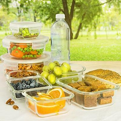 13-Pack Glass Lids Meal Prep Lunch