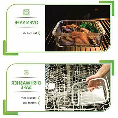 "13-Pack Lids Food Airtight Meal Prep """