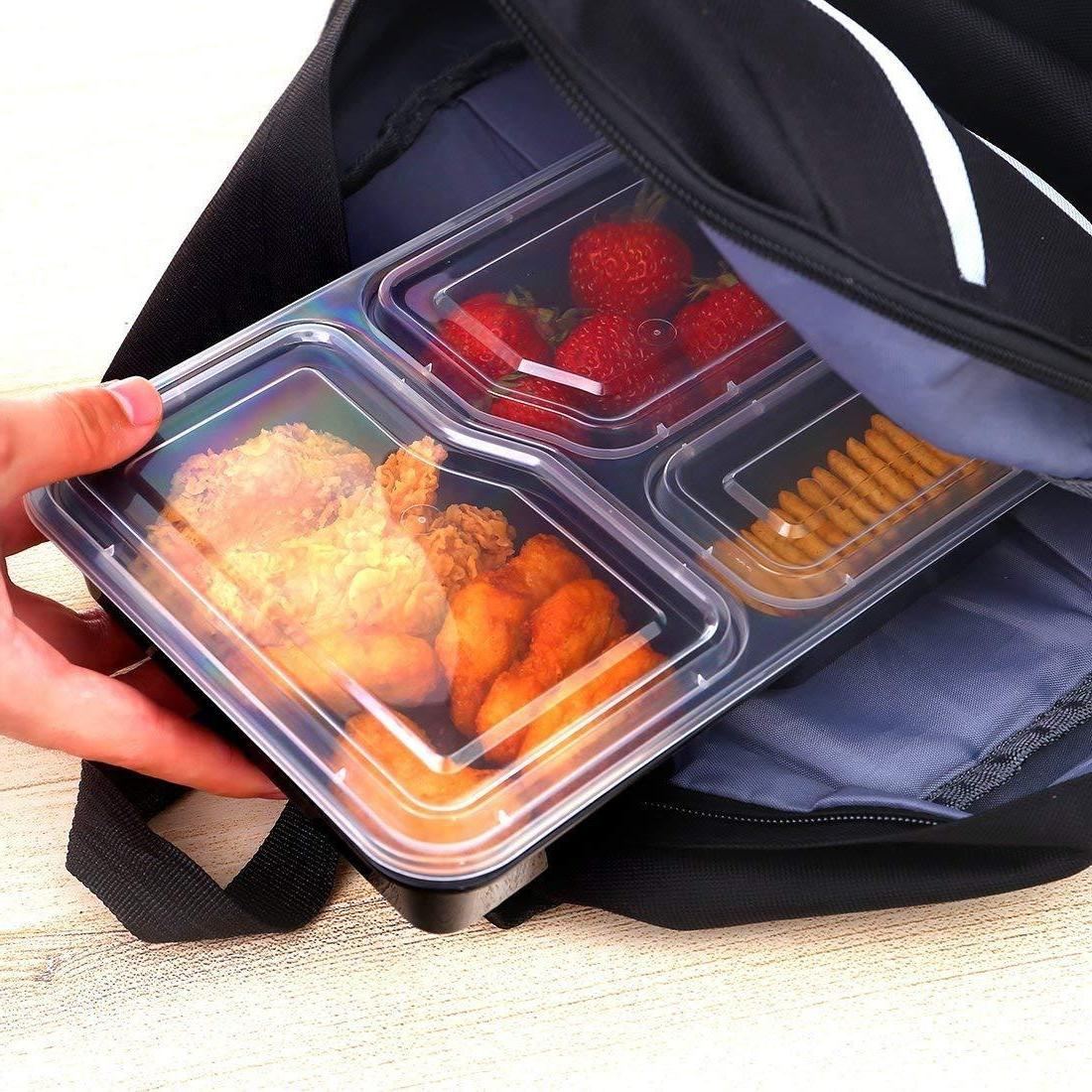 20 Prep Containers Storage Compartment