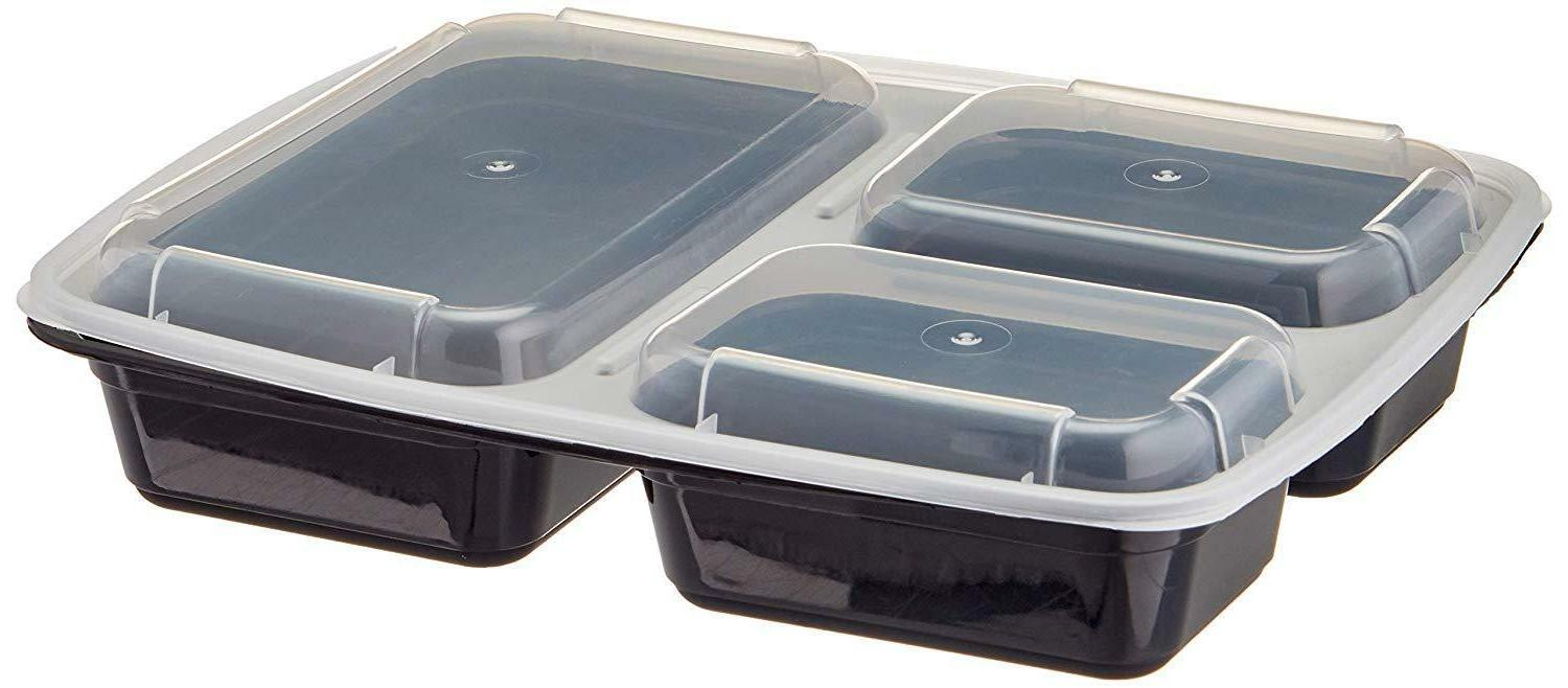 20 Meal Containers Food Storage Compartment Safe