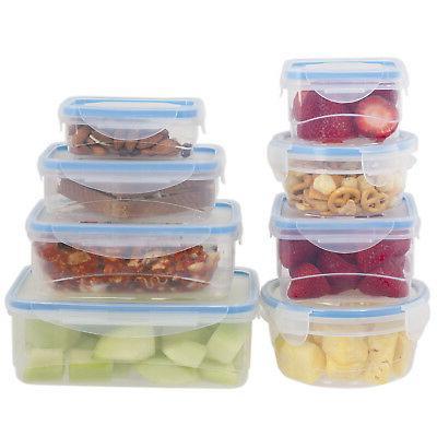 16 pcs plastic food storage containers set