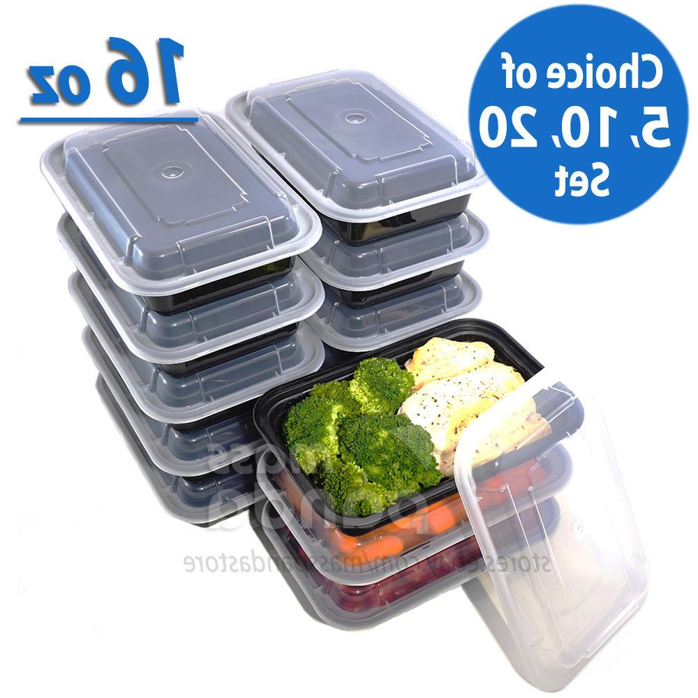 16oz meal prep food containers with lids