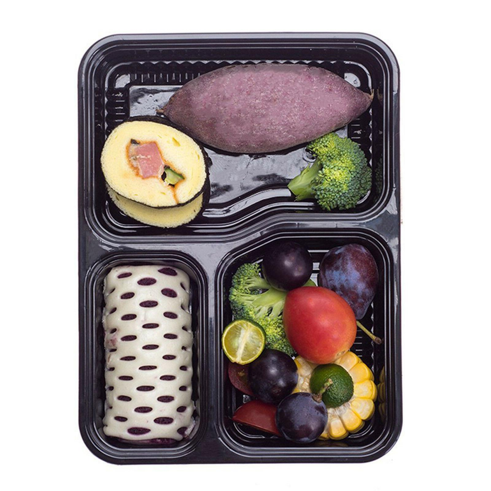 20 Pack Meal Containers Storage Compartment Safe