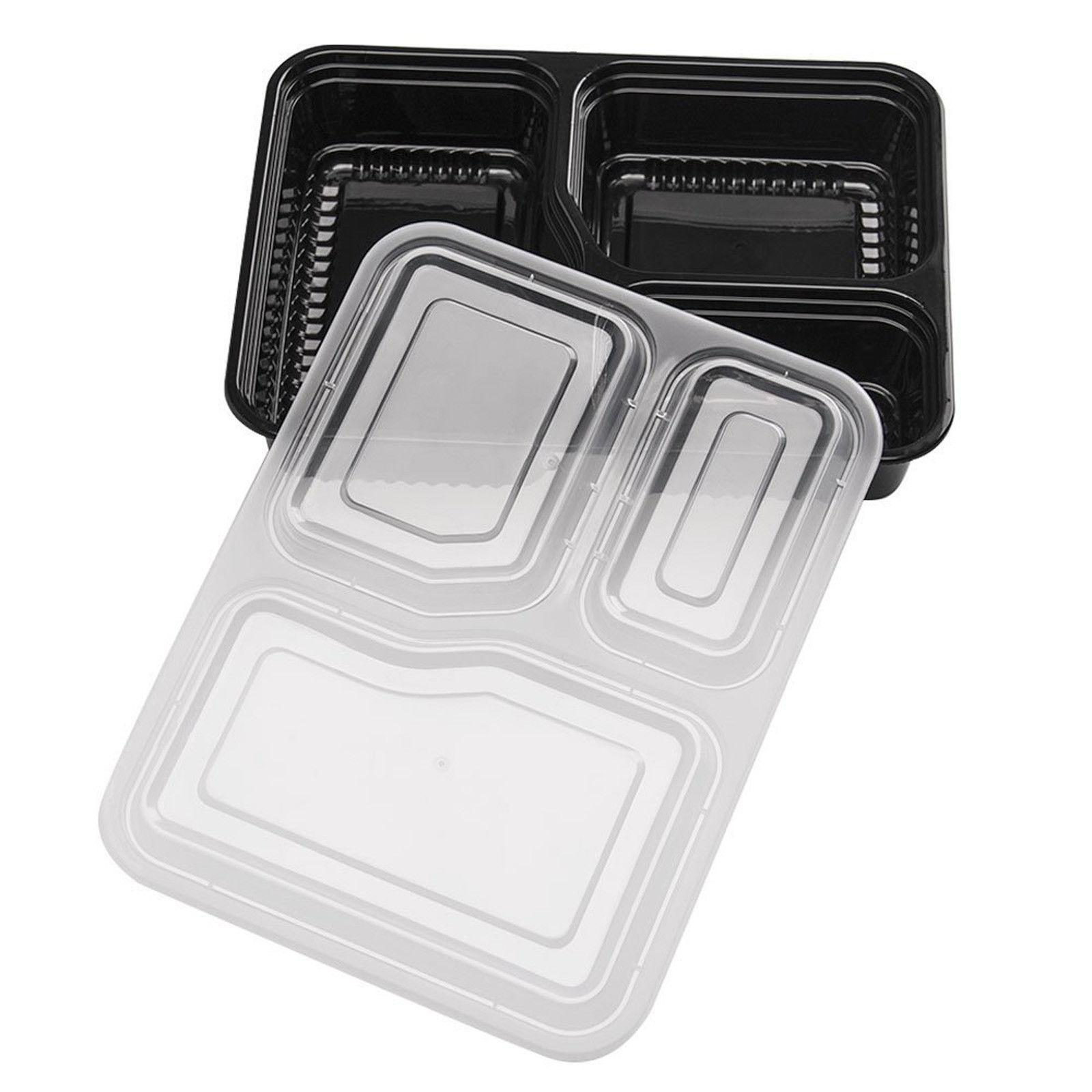 20 Containers Food 3 Compartment Microwave