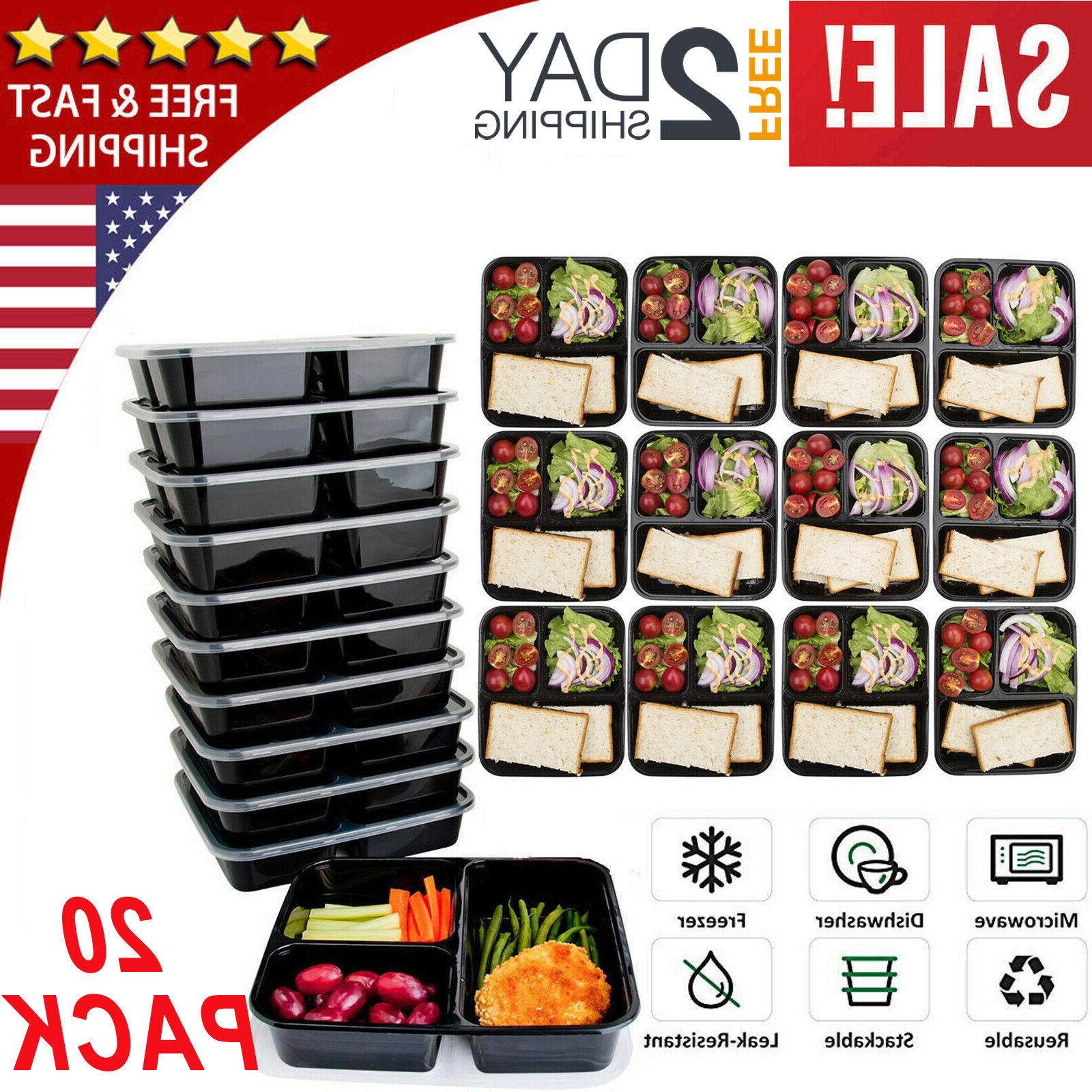 20 pack meal prep containers food storage