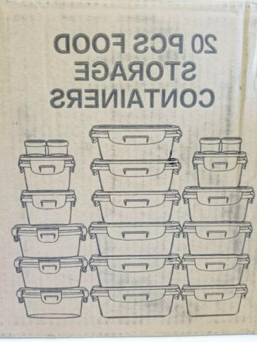 20 piece glass food storage airtight
