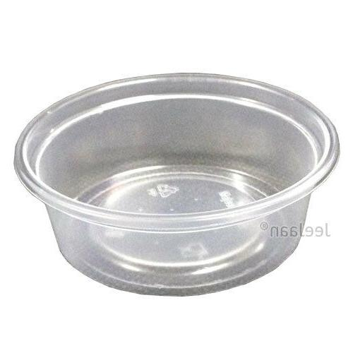100 plastic containers with lids disposable party