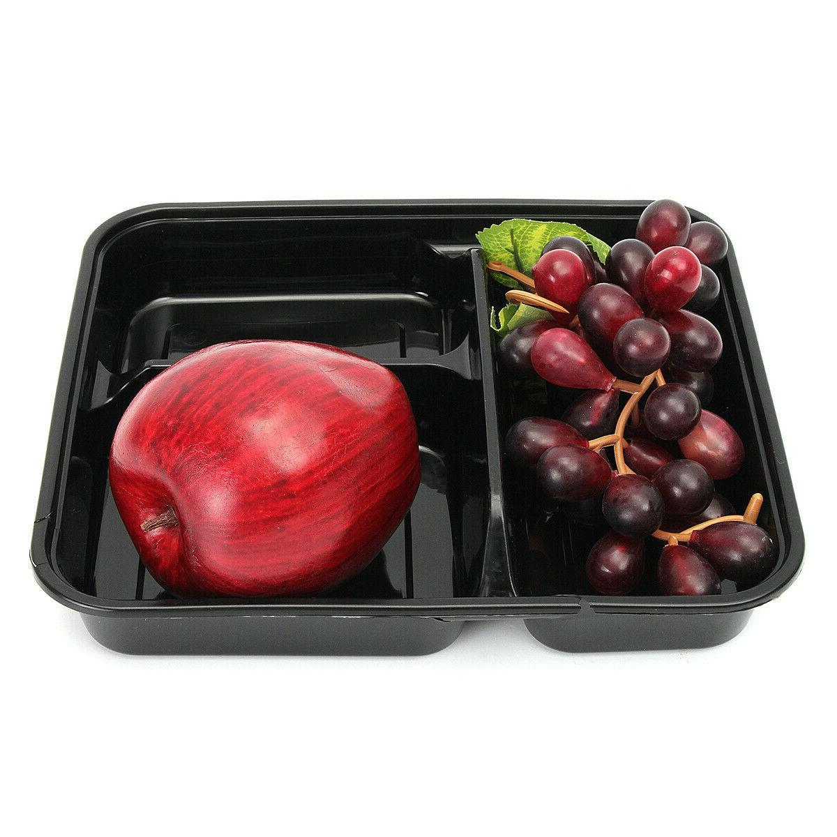 20Pcs Plastic Meal Storage Lunch Box