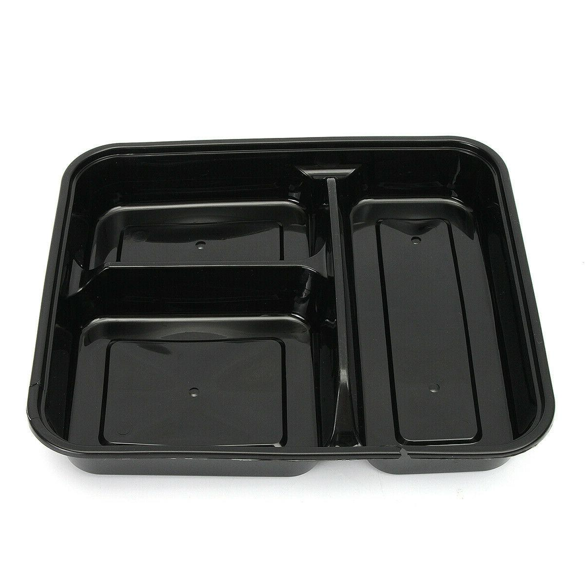 20Pcs Plastic Meal Prep Storage Container Lunch Box 3