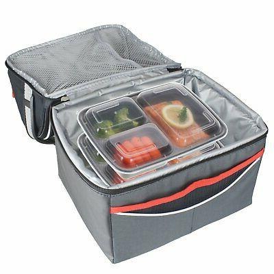 21 Meal Prep Containers 3 Compartment