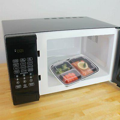 21 Prep Containers Compartment Microwave