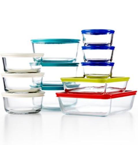 22 piece food prep and storage glass