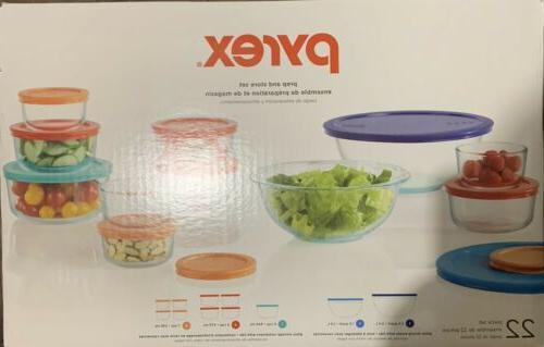 22 piece food storage container set brand