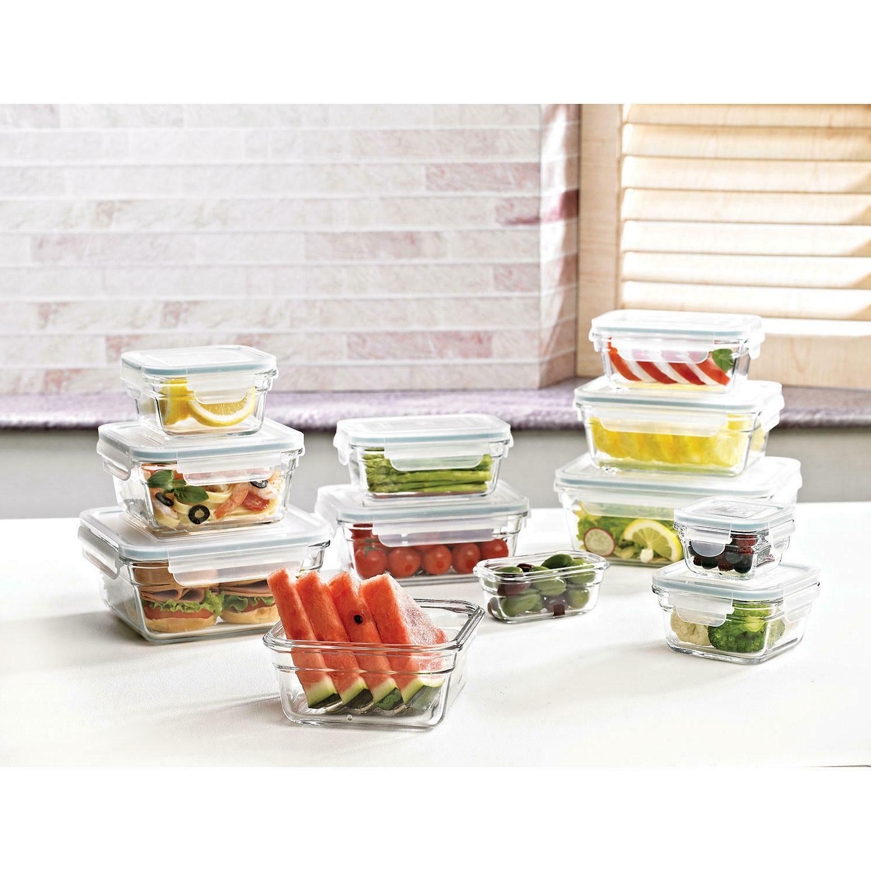 Member's Mark 24-Piece Glass Food Storage Set by Glasslock F