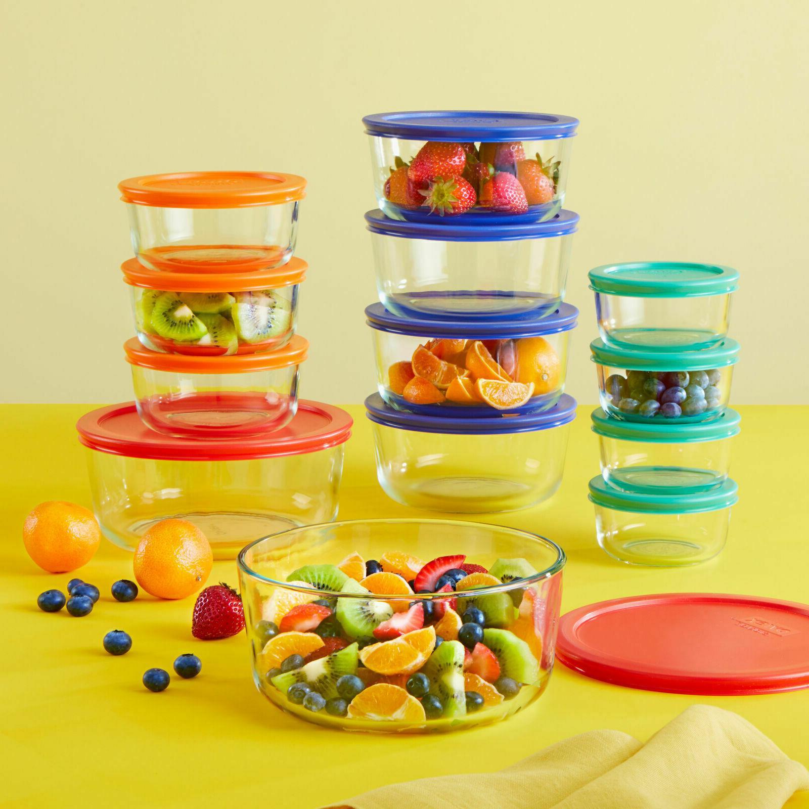Pyrex Round Glass Food Set 24