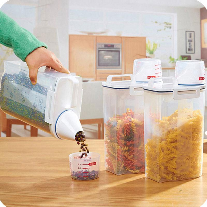 2l plastic cereal dispenser storage box kitchen