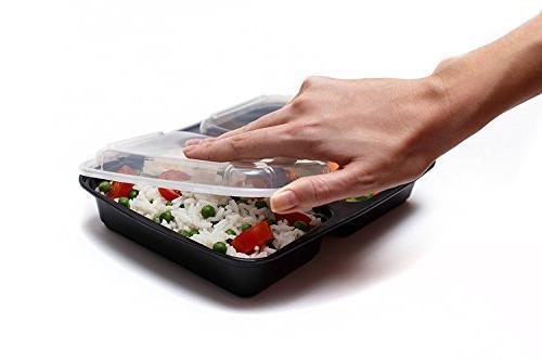 Meal Prep Compartments, 32 Storage Box BPA Free | | Reusable Microwave/Dishwasher/Freezer Portion