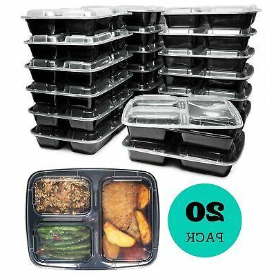 3 compartment reusable food prep