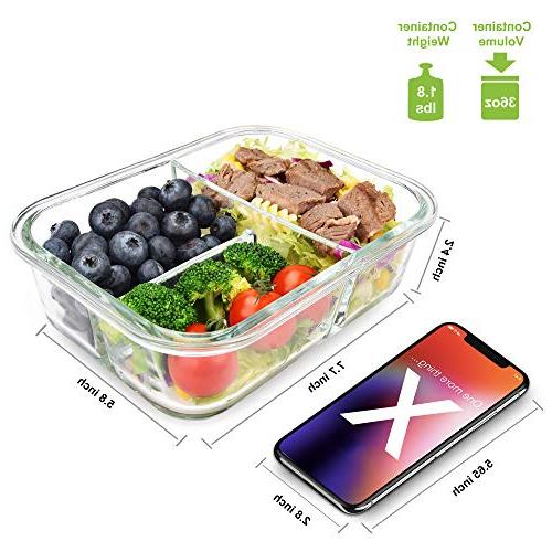Containers 3 Bento Food Airtight -