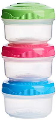 3 PCS Mini Bites Small Food Storage Containers stackable BPA