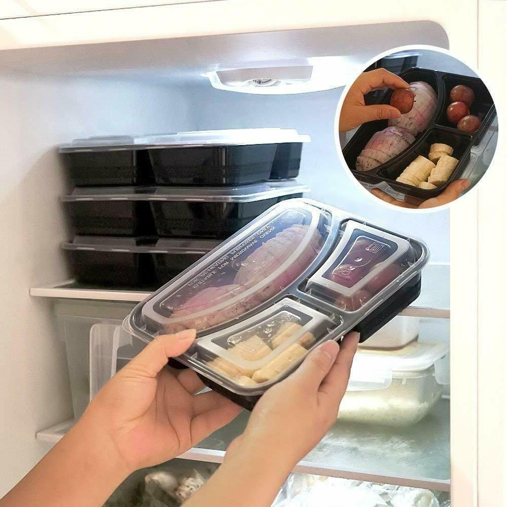 30 Containers Bento Box Compartment BPA Free